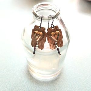 Vintage Handcrafted Thunderbird Earrings